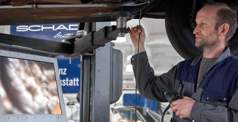 Mercedes-Benz Kontrolle Endoskopie